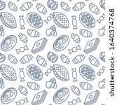 novruz sweets icons pattern.... | Shutterstock .eps vector #1640374768