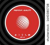 earth logo   halftone sphere....   Shutterstock .eps vector #1640380738