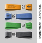 four colored ribbons with data  ... | Shutterstock .eps vector #164040536