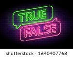 true and false neon sign with... | Shutterstock .eps vector #1640407768