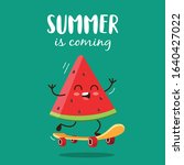 summer is coming with cute... | Shutterstock .eps vector #1640427022