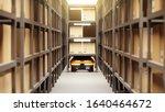 warehouse autonomic robots... | Shutterstock . vector #1640464672
