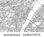 black and white vector city map ... | Shutterstock .eps vector #1640474575