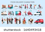 restaurant and food delivery... | Shutterstock .eps vector #1640493418