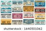 Car Number License Plate. Retro ...