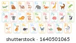 alphabet cards for kids.... | Shutterstock .eps vector #1640501065