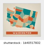 Washington Poster. Map Of The...
