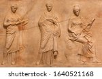 Ancient Bas Relief Depicting...