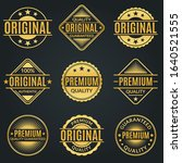 vintage badge and retro logo... | Shutterstock .eps vector #1640521555