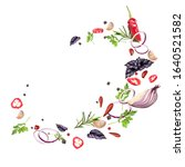 whirlwind of flying spices and... | Shutterstock .eps vector #1640521582