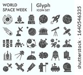 world space week solid icon set ... | Shutterstock .eps vector #1640546335