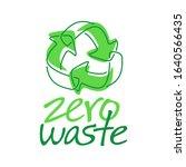 zero waste icon   cradle to... | Shutterstock .eps vector #1640566435