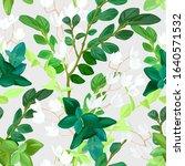 hand drawn fresh spring... | Shutterstock .eps vector #1640571532