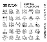 30 set collections business...   Shutterstock .eps vector #1640571745