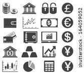 finance icons. | Shutterstock .eps vector #164059052
