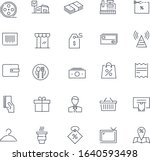 line icons set. mall pack.... | Shutterstock .eps vector #1640593498