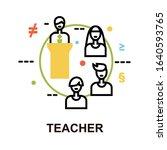 concept of teacher icon  modern ... | Shutterstock .eps vector #1640593765