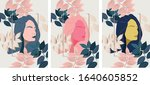 silhouette of a girl without... | Shutterstock .eps vector #1640605852