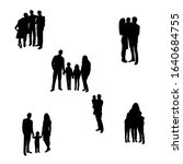 isolated  black silhouette of a ... | Shutterstock .eps vector #1640684755