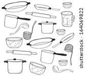 kitchen doodle | Shutterstock .eps vector #164069822