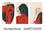 set background with portrait... | Shutterstock .eps vector #1640714335