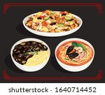 korean style chinese cuisine ...   Shutterstock .eps vector #1640714452
