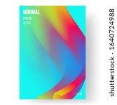 fluid bright color flyer... | Shutterstock .eps vector #1640724988