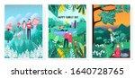 illustration of happy family... | Shutterstock .eps vector #1640728765