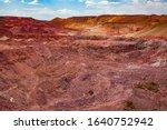 aluminium ore quarry. bauxite... | Shutterstock . vector #1640752942