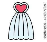 bridal dress with pink heart... | Shutterstock .eps vector #1640772328