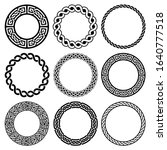 irish celtic vector round frame ... | Shutterstock .eps vector #1640777518