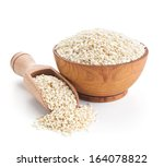 sesame seeds isolated on white... | Shutterstock . vector #164078822