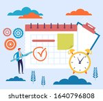 time management task deadline... | Shutterstock .eps vector #1640796808