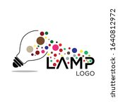 lamp logo design vector template | Shutterstock .eps vector #1640812972