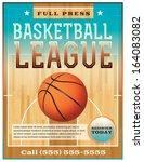 a basketball league flyer or...   Shutterstock .eps vector #164083082