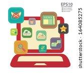 vector   graphic for internet... | Shutterstock .eps vector #164085275