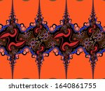 a hand drawing pattern made of... | Shutterstock . vector #1640861755
