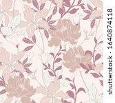 beautiful seamless floral... | Shutterstock .eps vector #1640874118