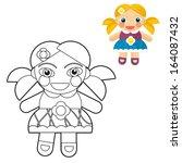 Cartoon Girl   Doll   Coloring...
