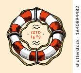 Sea Lifebuoy. Nautical Or...
