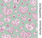 romantic seamless vector... | Shutterstock .eps vector #1640906242