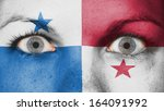 close up of eyes. painted face... | Shutterstock . vector #164091992