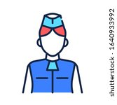 Stewardess Color Line Icon....
