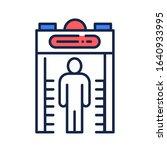metal detector color line icon. ...