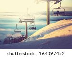 ski resort | Shutterstock . vector #164097452