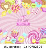 love sweet shop logo  with many ... | Shutterstock .eps vector #1640982508