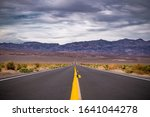 Empty Road In Death Valley ...