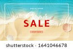 summer sale banner template.... | Shutterstock .eps vector #1641046678