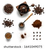 coffee and accessories top view ... | Shutterstock . vector #1641049075