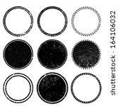 Stock vector set of grunge stamp 164106032